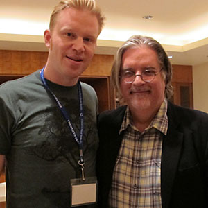photo chilling with Matt Groening