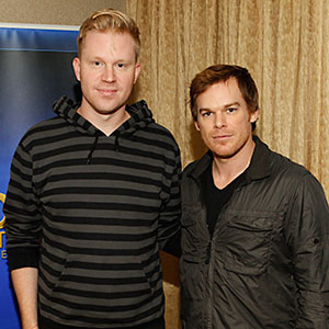 photo chilling with Michael C Hall