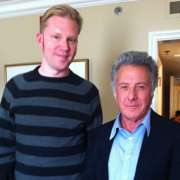 photo chilling with Dustin Hoffman