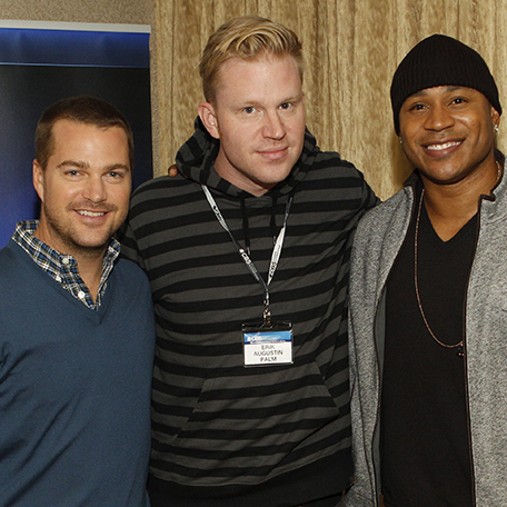 photo chilling with LL Cool J & Chris O'Donnell