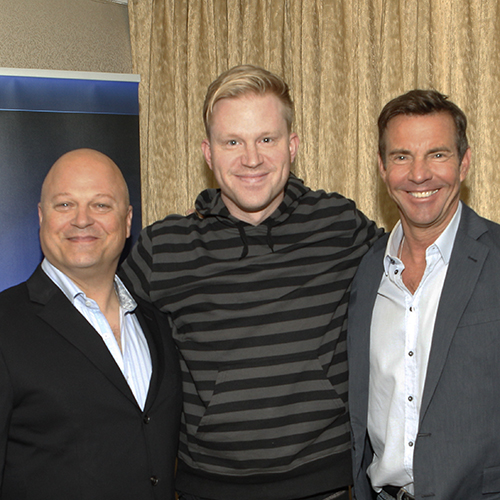 photo chilling with Michael Chiklis & Dennis Quaid