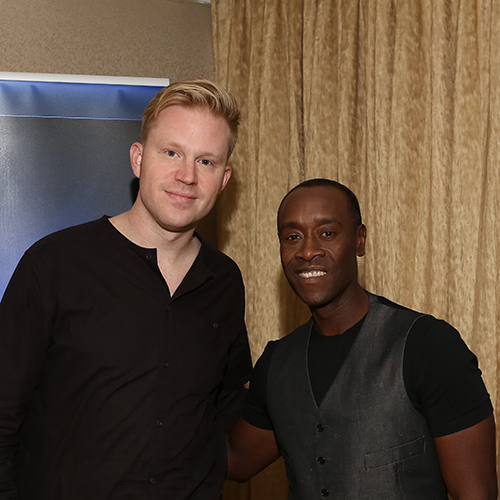 photo chilling with Don Cheadle
