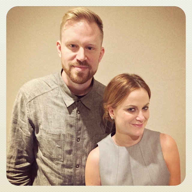 photo chilling with Amy Poehler