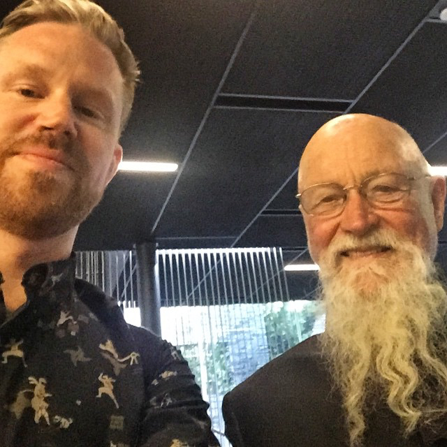 photo chilling with Terry Riley
