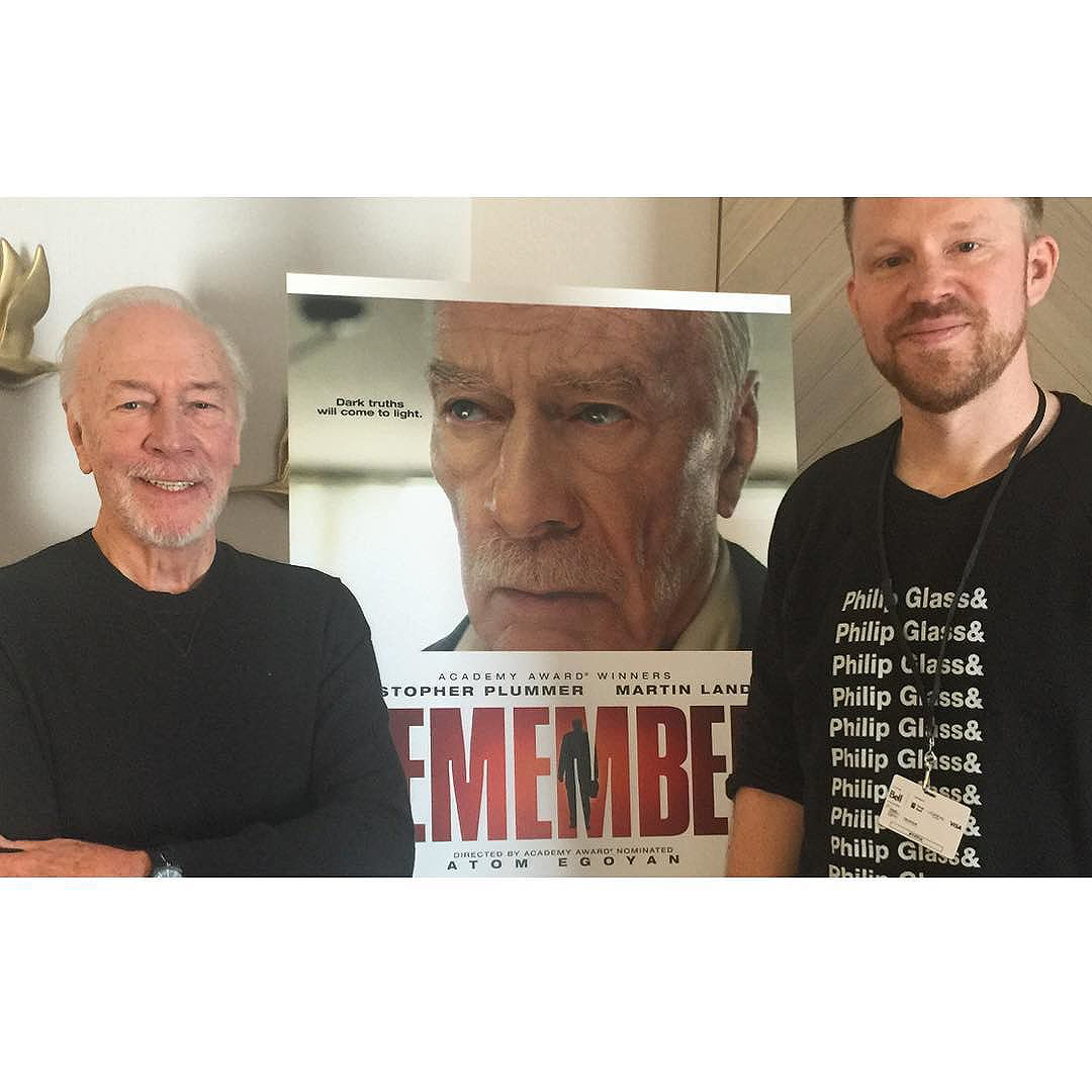 photo chilling with Christopher Plummer