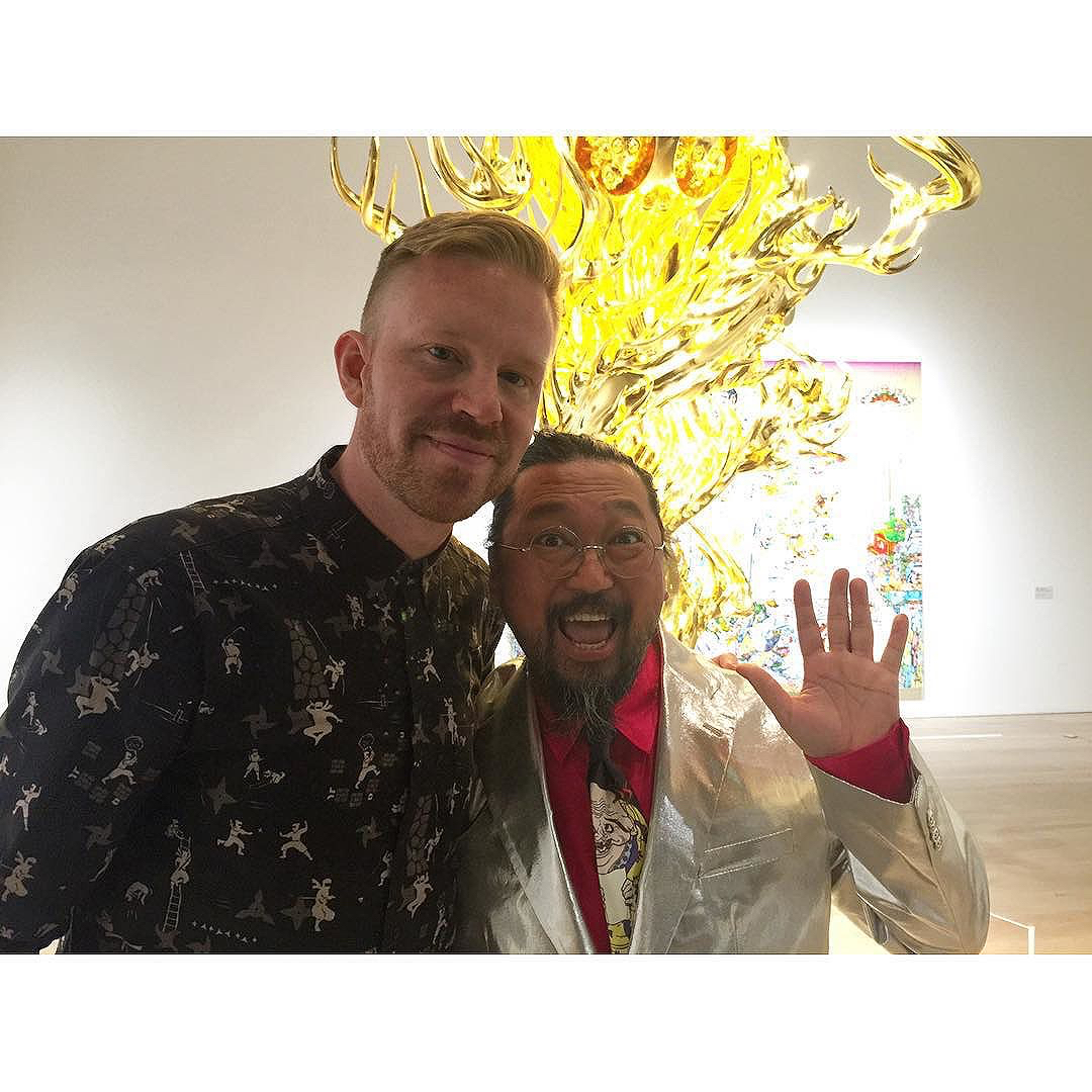photo chilling with Takashi Murakami