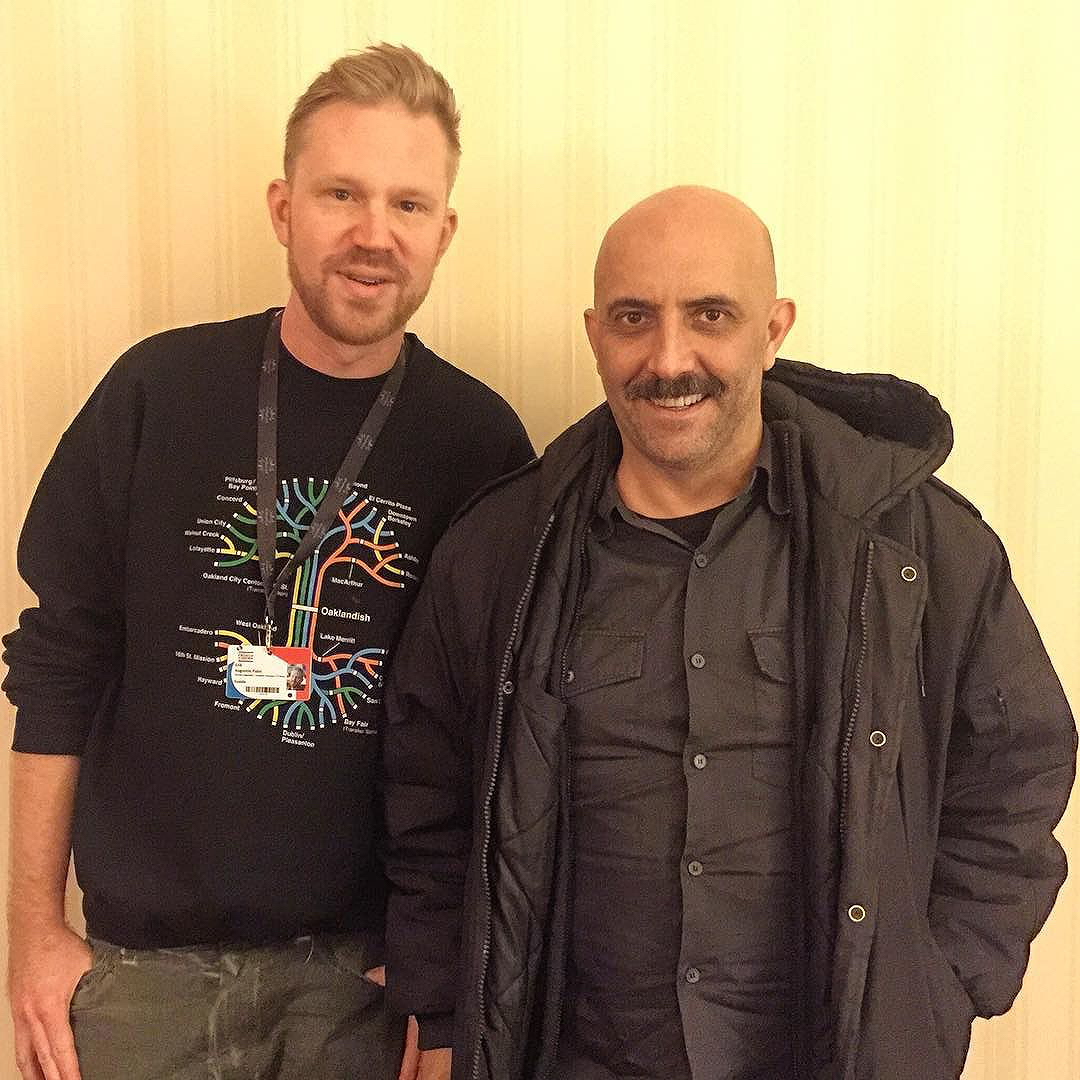 photo chilling with Gaspar Noé