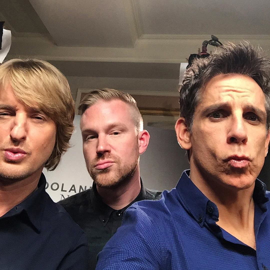 photo chilling with Ben Stiller & Owen Wilson