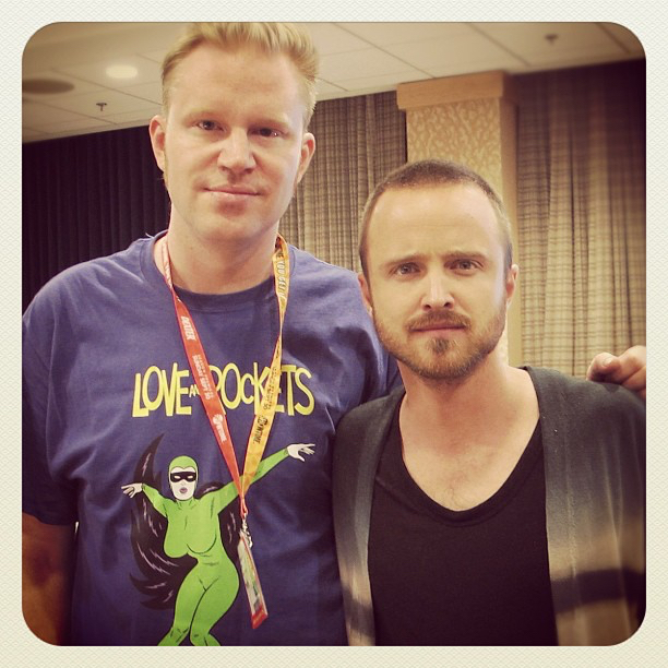 photo chilling with Aaron Paul #1