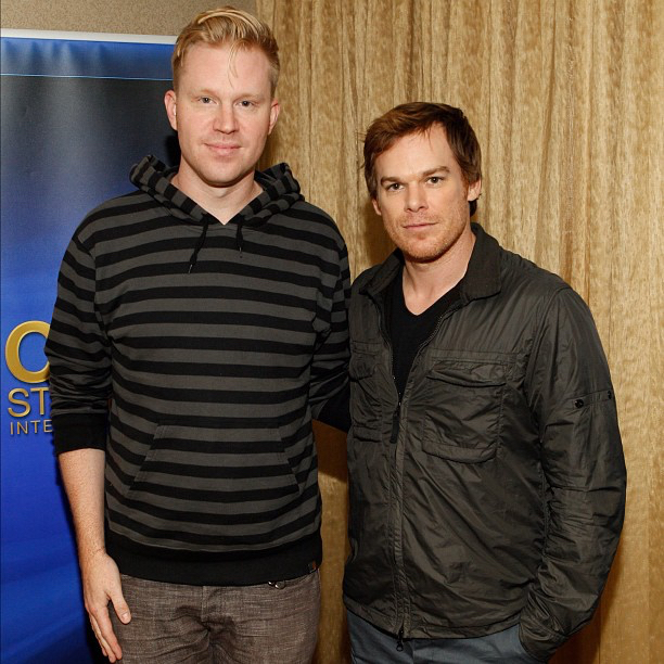 photo chilling with Michael C. Hall