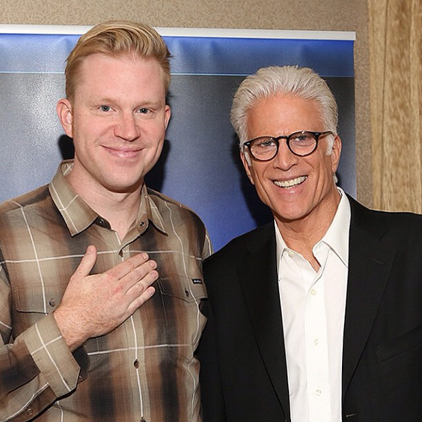 photo chilling with Ted Danson
