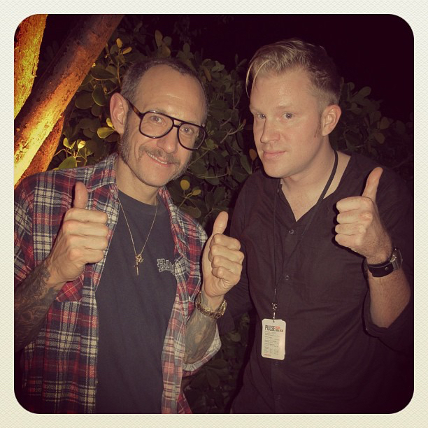 photo chilling with Terry Richardson