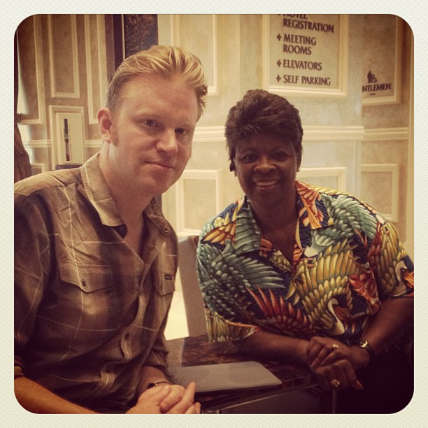 photo chilling with Irma Thomas