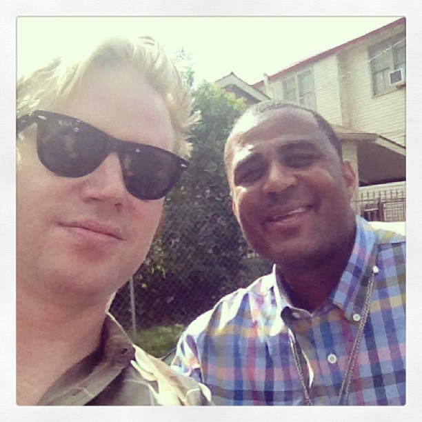 photo chilling with Glen David Andrews