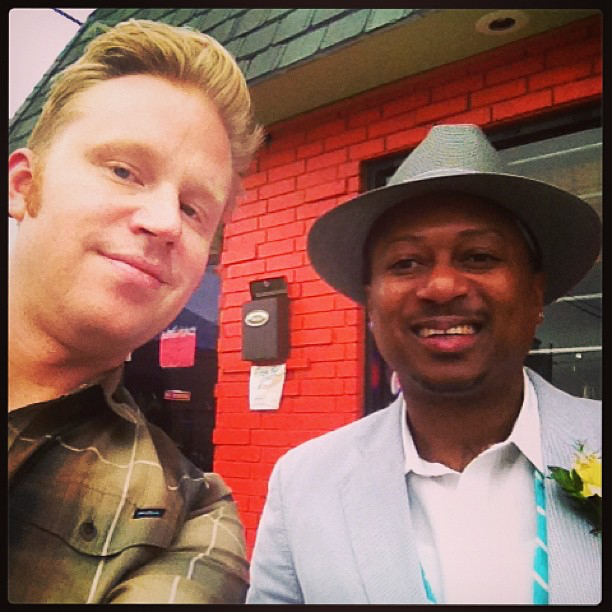 photo chilling with Kermit Ruffins