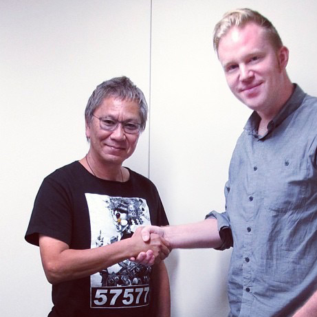 photo chilling with Takashi Miike
