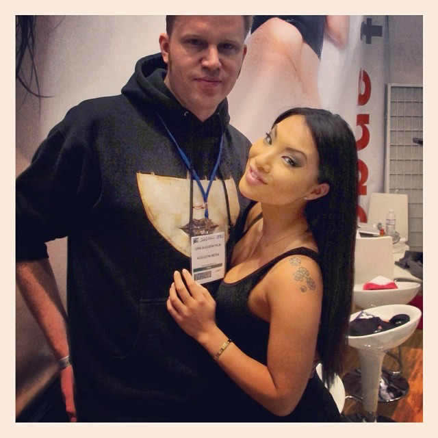 photo chilling with Asa Akira