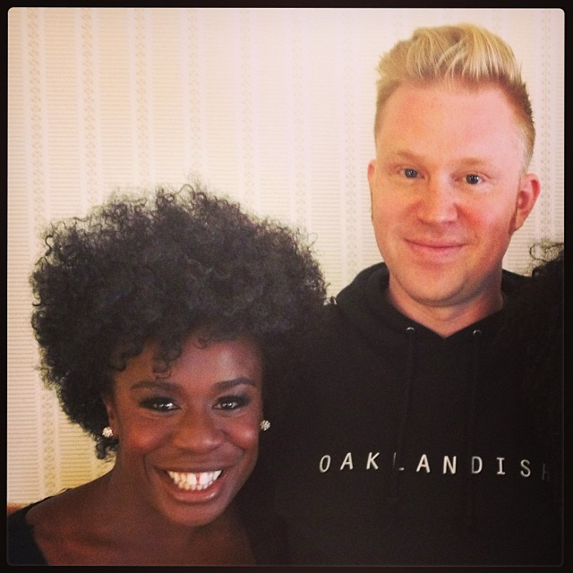 photo chilling with Uzo Aduba