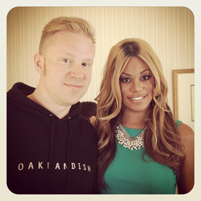 photo chilling with Laverne Cox
