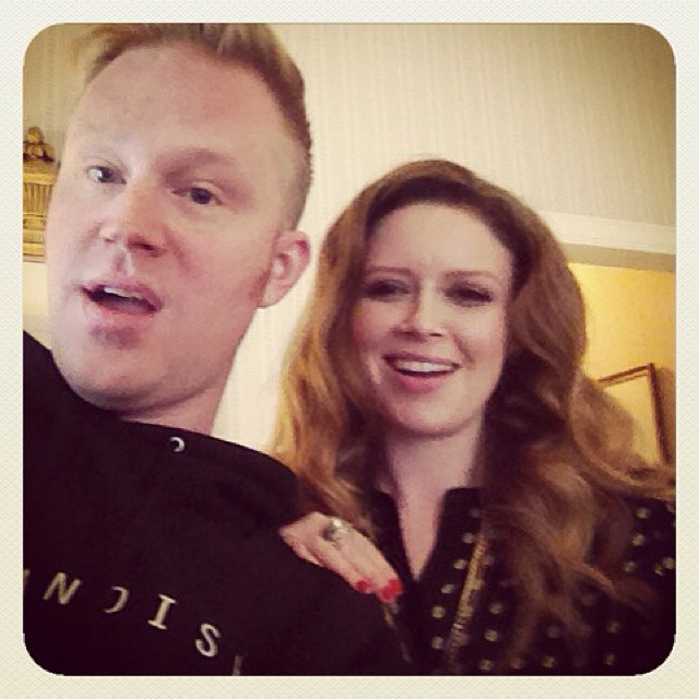 photo chilling with Natasha Lyonne