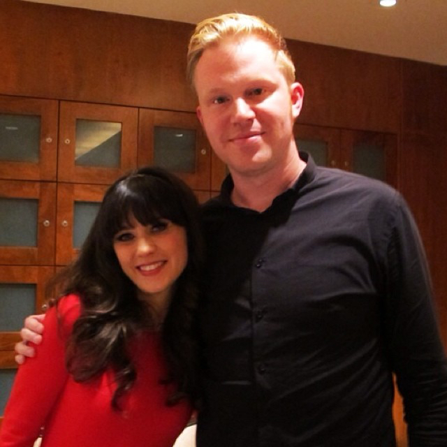 photo chilling with Zooey Deschanel