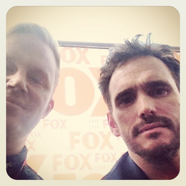 photo chilling with Matt Dillon