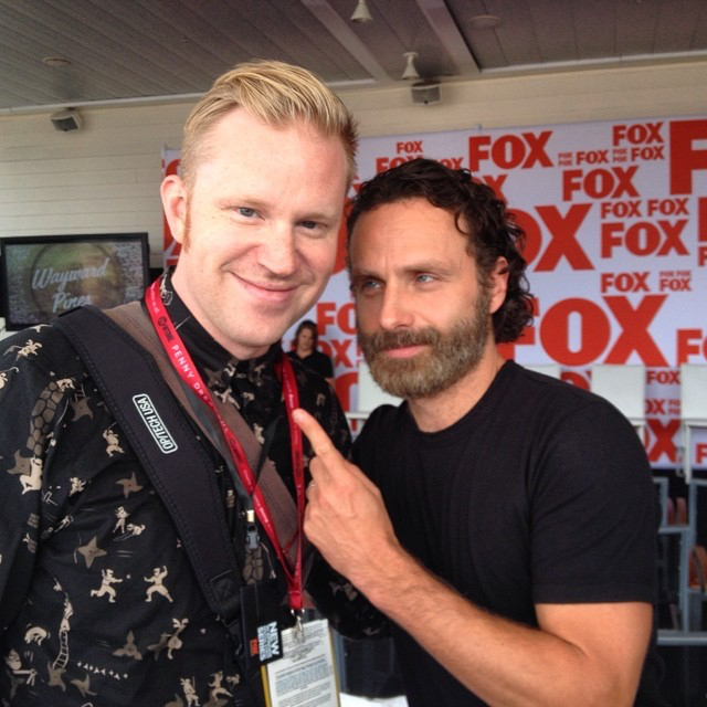 photo chilling with Andrew Lincoln