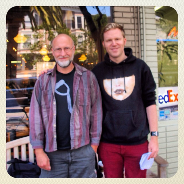 photo chilling with Bob Mould
